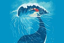 surfing illust