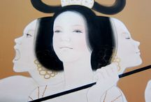 蒼野甘夏さん作品 / 日本画家・蒼野甘夏さんの作品が大好きです。