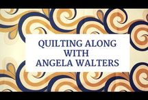 Mastering Feathers: The Free-motion Challenge Quilting Along with Angela walters / Learning how to machine quilt feathers is easier than you think! In this FREE video series, Free-motion Challenge Quilting Along, Angela Walters shows you how to machine quilt feathers!