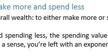 Money Matters / Some Financial Talk & Advice