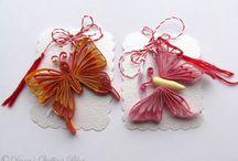 quilling /butterflies, animals