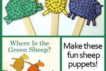 Book activities - Where is the green sheep / Book activities