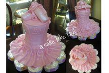 Ballerina cake-cupcake and cookies