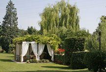 Garden of Corte Pedrotta for Italian weddings