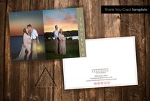 Thank You Card Templates / Pre-made designed templates to assist with your branding for photography or small businesses.