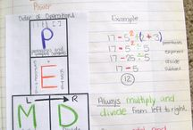 Order of Operations / Find order of operations activities to add to your lessons. Check out the ideas for introducing order of operations, helping your students remember the order using PEMDAS, GEMS, or BEMDAS, or reviewing the order of operations with or without exponents. This math board includes games, worksheets, interactive notebook ideas, anchor charts, videos, TPT resources, and more for 4th, 5th, 6th, and 7th grade classrooms.