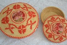 Sardinian Artistic Handicrafts - Basket / Basket handmade in straw and rush
