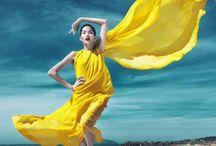 Желтый & голубой