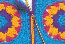 Quadrados crochet avó