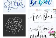 Whimsical Scripts / Examples of whimsical handlettering, brush-pen style