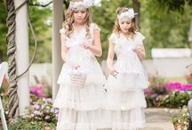 clothes: flowergirl dresses / Inspiration for dresses for flowergirls, contemporary, and most likely possible to buy on the net. I add brandname so you can find the dress on the net.