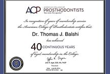 Awards and Certificates / View Awards and Certificates for Pi Dental Center, Drs. Balshi, Wolfinger, and Bowers.