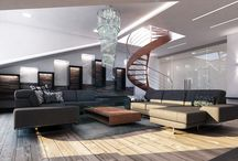 Luxusní podkrovní byt ve Špindlerově Mlýně / Obrátil se na nás majitel podkrovního bytu ve Špindlerově Mlýně s žádostí o návrh interiéru společenské zóny.