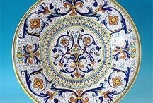 ceramica decorata italiana