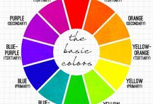 Color Theory + Infographics / Understand color theory with these handy coloring charts, color wheels, creative infographics and tutorials. Learn how to match different color combinations and create your own color palettes with these guides on primary colors, tertiary colors, analogous colors, coloring mixing, and more.