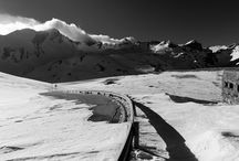 La Thuile - snowy and endless landscapes / Ski station in the north of Italy where pleasure and beauty mix perfectly