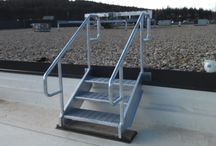 Access Stairs/Ladders / A collection of access stairs and ladders for commercial buildings.