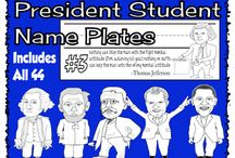 Student Name Plates / A Collection of Differenct Name plates for students desks