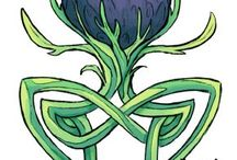 Thistle and Celtic drawings