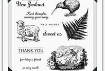 Australia & New Zealand Stamp Sets / by Keeley's Kreations Close To My Heart