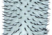 Poduszka dekoracyjna JEŻYK biały/Faux fur pillow JEŻYK biały / Poduszka dekoracyjna JEŻYK biały/Faux fur pillow JEŻYK biały