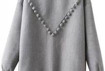 Sweatshirt dress in the making