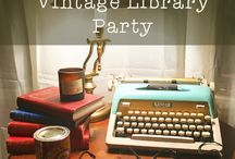 Library themed Party