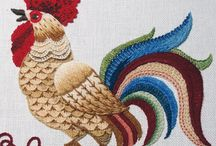 Embroidery and Needlework / Redwork, Crewel Embroidery, Cross stitch, needlepoint, lace making