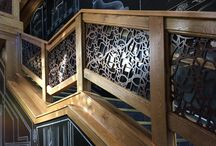 Railings / Our custom railings are a fun edge for many locations.