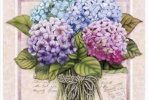 flores al óleo