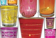 GLASS DECORATIVE CANDLE HOLDER