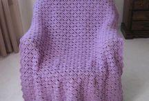 elegant purple afghan