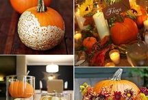 autunno e sassi colorati