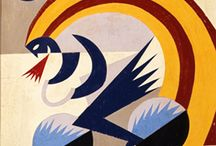 Fortunato Depero / a little board including some famous painting and creations made by this great italian Futurist artist