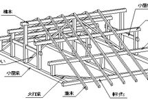 Japanese plans / wood roof, constaruction