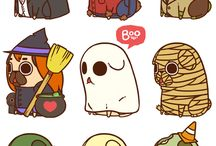 Boo mops halloween
