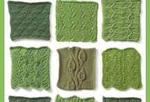 Knitting patterns and motifs