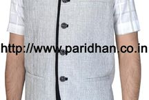 Nehru vest / This Nehru vest is nothing but without sleeves Nehru jacket.It can be worn on any trouser,shirt ,tunics etc.It is made in 100% wool,100% linen etc.