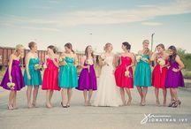 Bright maids dresses & Flowers