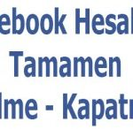 Facebook Hesabını Kapatma