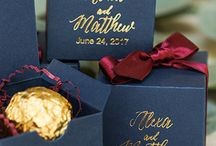 Wedding Themes - Navy / Marsala