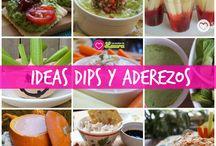 Dips Aderezos y Salsas / Aderezos para ensaladas deliciosos y bajos en calorías para cuidar tu peso.