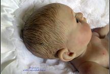 Painted hair on my reborn Pat-a-Cake Babies / Reborn Painted hair