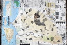 African Map Collages / Original collages made by Shenzi and Oga on maps of Africa zoomed out or zoomed in. & collages made by others who we admire on maps of Africa, zoomed out or zoomed in.