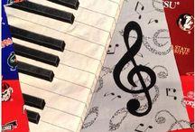 Quilt patterns: music