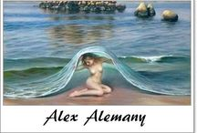 ⊱ Alex Alemany ⊰  /  ≻ Alex Alemany ~ Valencia, 1943 ≺ Alemany's realism, and in some of his work, his hyper-realism, kept drifting towards an unmistakable style of his own resulting from personal introspection, gradually becoming more and more distant from the coldness of other realist concepts with a strong influence of photography as American realism was. Alemany's work is the missing link between poetry and painting.