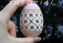 Bead crochet eggs