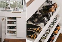 Closet sapatos banheiro
