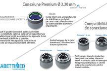 Implant dentar Sweden&Martina / Sistemul implantologic Premium oferă o gamă amplă de implanturi, atât cilindrice cât și conice, cu configurare coronară diferită, pentru a satisface în mod funcțional cele mai variate necesități de reabilitare implanto-protetică.
