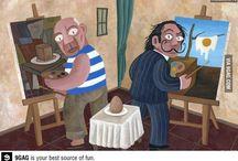 Picasso y Dalí pintan un huevo :) (ilustración de David Vela)